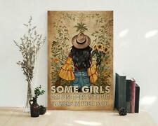 Black Girl Sunflower Into The Garden Poster, Sunflower Poster, Black Queen Poste
