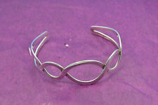 ladies sterling silver cross over Torque bangle 925 euro hallmarks weight 16 gr