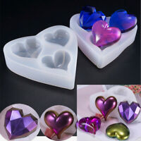 Heart Silicone Mold Making Jewelry DIY Polymer Clay Resin Casting Craft Moulds