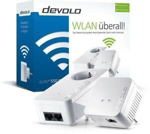 DEVOLO dLAN 500 / WiFi 550 Starter Kit Powerline Adapter mit WLAN und MESH