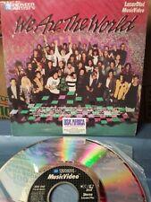 "We Are The World 8"" Laserdisc Video Michael Jackson Bruce Springsteen etc..RARE!"