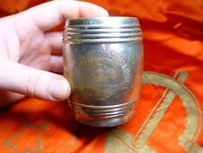 Antique Russian USSR metal bank money cash box barrel 1920s