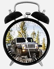 "Jeep Wrangler Off Road Alarm Desk Clock 3.75"" Home or Office Decor E220"