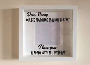 Box Frame Vinyl Decal Sticker Wall art Quote Dear Nanny Our big adventure is