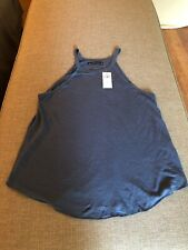 NWT Women's ABERCROMBIE And FITCH Loose Fitting Tank BLUE Size SMALL