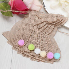 2.5M Easter Bunny Rabbit Burlap Banner Bunting Garland Party Hanging Decorations