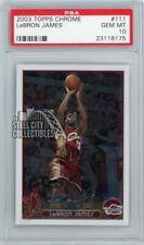 LeBron James 2003/04 Topps Chrome Basketball Rookie Card Psa 10 Gem Mint