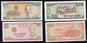 Viet Nam - 200 e 1000 dong 1987(88) qFDS/UNC- (2 banconote)  B-05