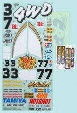 STICKERS Hotshot Vintage 58047 Re-Release 58391 4wd Buggy RC Tamiya 9495516