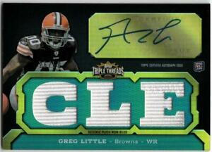 GREG LITTLE 2011 Topps Triple Threads Emerald Autograph Jersey Relic RC #/50