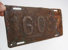 1943 Panama License Plate 16-037 Rusty & Crusty retired
