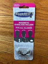 ReadeREST Magnetic Eyeglass Holder, with 2 Swarkovski Crystals, brand new