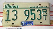 Vintage 1987 Illinois License Plate