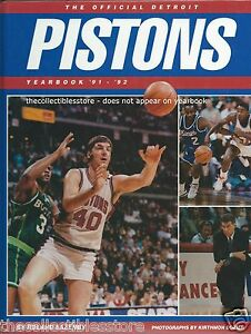 THE OFFICIAL DETROIT PISTONS 1991 - 1992 NBA BASKETBALL YEARBOOK - ISIAH THOMAS
