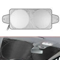 Car Front Window Sun Shade Visor Folding Windshield Block Cover Protector Silver