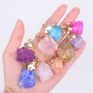 wholesale lot of 10 amethyst agate gemstone necklaces fashion jewelry