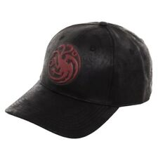 5b8b09a6332 Dragon Logo Game of Thrones Curved Bill Hat Cap House Targaryen Khaleesi