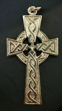 Ladies Large Solid Celtic Cross Pendant  in 9ct Gold  6.7Grams