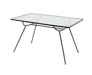George Nelson Arbuck Vtg Mid Century Modern Wrought Iron Dining Table Salterini