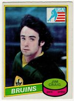 1980 81 JIM CRAIG ROOKIE RC OPC O PEE CHEE BOSTON BRUINS CARD #22