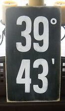 39 43' THE MASON DIXON LINE North & South Sign Plaque U-Pik Color Southern