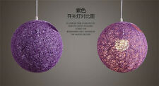 Creative Rural Hemp Rope Ma Ball Rattan Light chandelier aisle lamp Chandelier