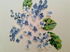 White lilac Cross-Stitch Extra Quality Sew-On Embroidered Patch Applique