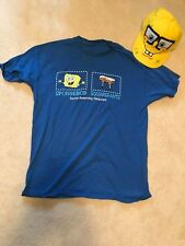 Spongebob Squarepants custom costume shirt Mens size large shirt and hat T-shirt
