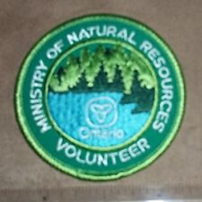 ONTARIO MNR VOLUNTEER PATCH,BADGE,Ministry of Natural Resources,smaller size