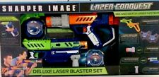 SHARPER IMAGE Lazer Conquest Deluxe Laser Blaster Set Dual Kit Tag New In Box.
