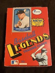 1988 Pacific Baseball Legends Wax Box-36 Packs- 10 Cards Per Pack