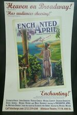 """Enchanted April Romantic Comedy Theater Broadway Window Card Poster 14"""" x 22"""""""
