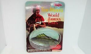 "VINTAGE Tom Mann's BULLFIN Baby Bass 3"" Lipless Crankbait Fishing Lure NOS"