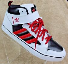ADIDAS Men's Varial II Mid White/Red Athletic Skateboard Shoes (size 13; B27412)