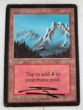 SIGNED Mountain -HP- Beta MTG Magic Cards Land Common SEE IMAGES LC-A