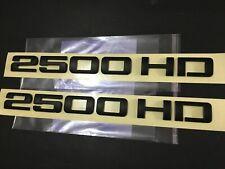 Set of 2 2500HD Matte Black Letter Badge Emblem Decal for Chevy Silverado Sierra