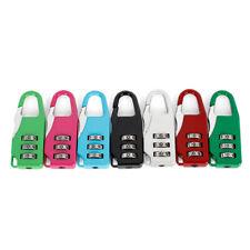 Resettable 3 Digit Combination Lock Travel Luggage Suitcase Code Padlock