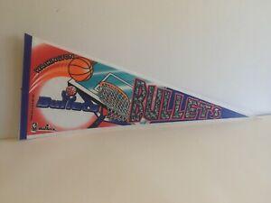 Vintage 1994 Pennant Washington Bullets Basketball