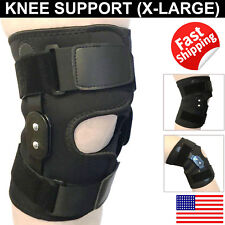 Hinged Patella Knee Brace Gym Weightlifting Support Compression Pain Relief XL