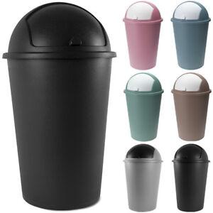 Poubelle 50 litres Couvercle basculant 68 x 40cm Maison cuisine déchets 50L