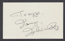Johnnie Ray, American Singer, Songwriter & Pianist, signed 3x5 card.