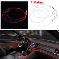 4M Red LED Car Interior Decorative Lamp Light Dash Trim Optical Fiber Door Light