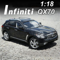 ORIGINAL 1:18 INFINITI QX70 Black Diecast Model Car Collection Vehicles Toys