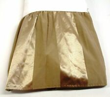 """Heavy Shadow Stripe Gathered Bed Skirt 14"""" Drop ~ Gold ~ King 78"""" x 80"""""""