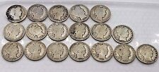 Barber Half Dollar Lot Of 18 US Coins All Different 1893-1914