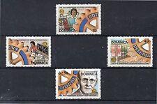 Dominica Rotary International serie del año 1980 (DE-100)