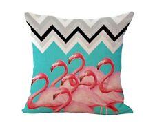 """NEW Flamingo Bird Chevron Printed Decorative Throw Pillow Case 17.5"""" x16.5"""""""