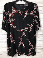 Impressions Lifestyle Women's Multi-Colored Floral Short Sleeve Top Size L