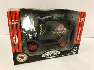 Gearbox 1912 Ford Texaco Delivery Car Coin Bank NEW IN BOX