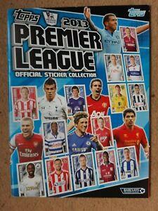 TOPPS PREMIER LEAGUE 2013: EMPTY FOOTBALL STICKER ALBUM: SUPERB ITEM LOOK !!!